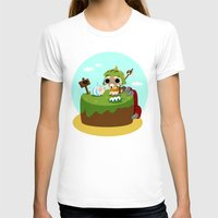 monster hunter T-shirts featuring Monster Hunter - Felyne and Poogie by tcbunny