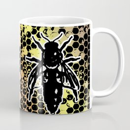 Geometrical Honeycomb & Bee Coffee Mug