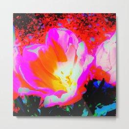 Radioactive Tulip Metal Print