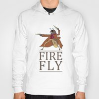 firefly Hoodies featuring Firefly by Evan Raynor