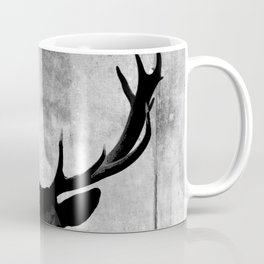Industrial Black Deer Silhouette A313 Coffee Mug