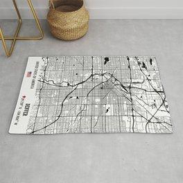Denver, USA Road Map Art - Earth Tones Rug