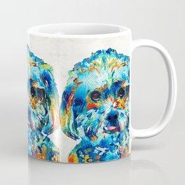 Colorful Dog Art - Lhasa Love - By Sharon Cummings Coffee Mug