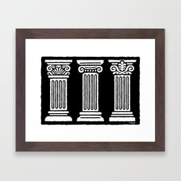 3 Columns Framed Art Print
