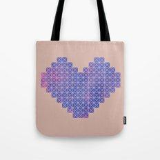 Heart X Purple Tote Bag