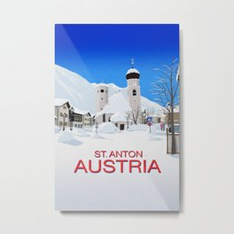 St Anton Austria Metal Print