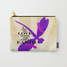 Dragonflies Green Earth Love Carry-All Pouch