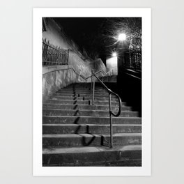 Steep Steps Art Print