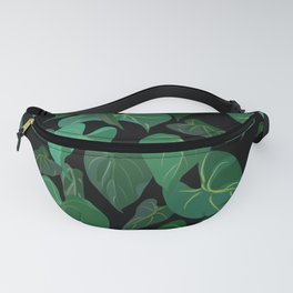 Philodendron Plant   Black Fanny Pack