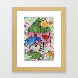 Merry go horsie Framed Art Print
