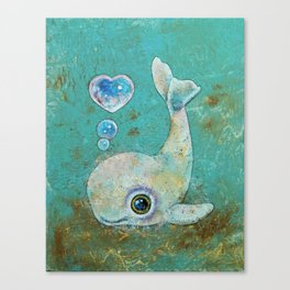 Baby Whale Canvas Print