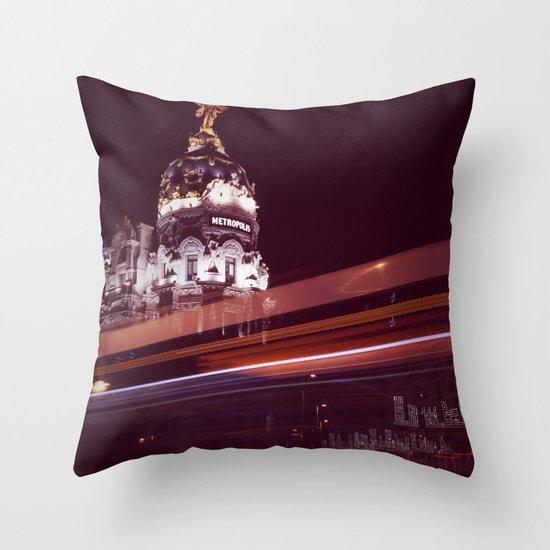Metropolis I Throw Pillow
