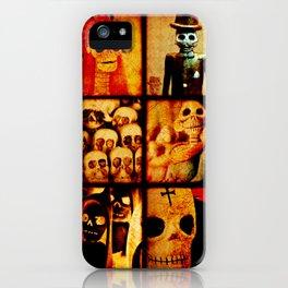 Spooky Calavera Skulls iPhone Case