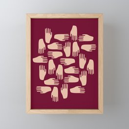 Hand in Hand Framed Mini Art Print