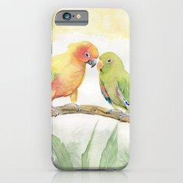 Parakeet Love iPhone Case