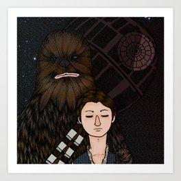 Han&Chewie Art Print