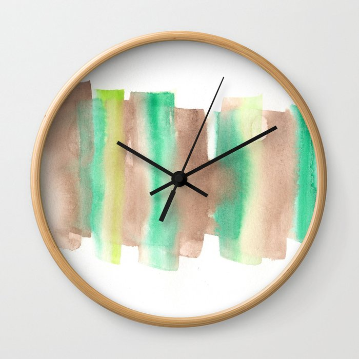 [161228] 10. Abstract Watercolour Color Study  |Watercolor Brush Stroke Wall Clock