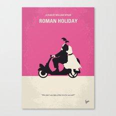 No205 My Roman Holiday minimal movie poster Canvas Print
