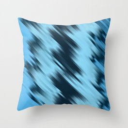 stripes wave pattern 7v1 coi Throw Pillow