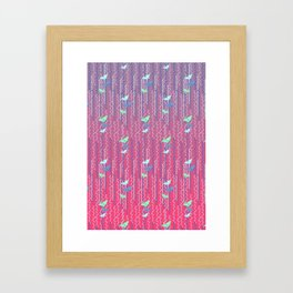 Origami Cranes // Graphic Print Framed Art Print