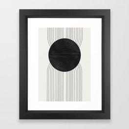 Line Art and Circle Framed Art Print