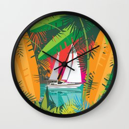 Sailing To Delos Revisited Wall Clock