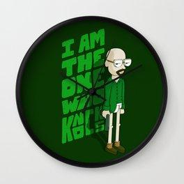 I am the One who Knocks Wall Clock