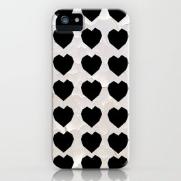 Black Hearts to Crumble iPhone Case