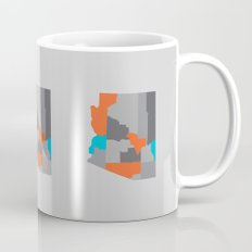 Arizona State Map Print Mug