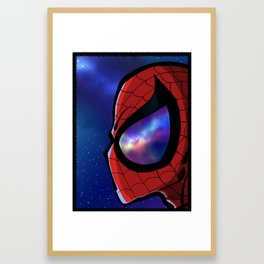 Spider Gaze Framed Art Print