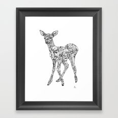 Leafy Deer Framed Art Print