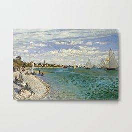 Claude Monet - Regatta at Sainte-Adresse Metal Print