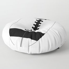 American Football In Black And White Floor Pillow