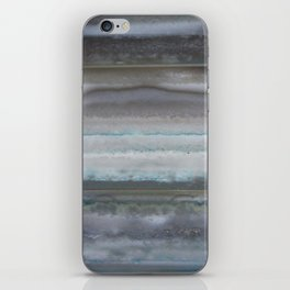 Agate Stripe Gray iPhone Skin