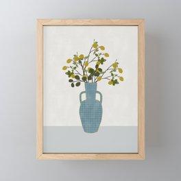 Vase with Lemon Branches Framed Mini Art Print