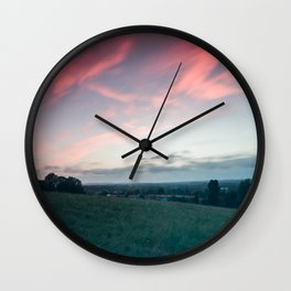 Sunset over Andover Wall Clock