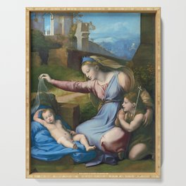 Madonna with the Blue Diadem by Raphael, 1512 Serving Tray