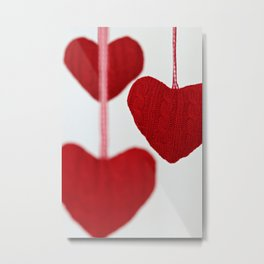 christmas decoration and valentine heart shape Metal Print