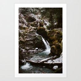 winter virgin creek falls Art Print