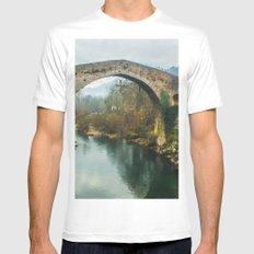 Asturias Roman Bridge White MEDIUM Mens Fitted Tee