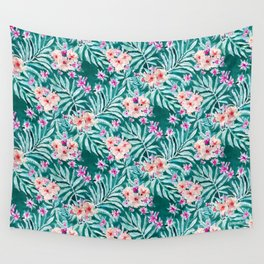 FRONDS ON FLEEK Tropical Palm Floral Wall Tapestry