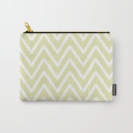 Chevron Wave Yellow Soft Carry-All Pouch