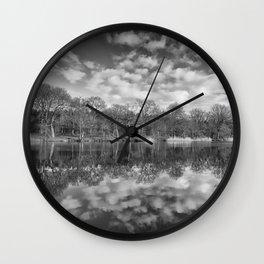 Late Winter Reflections Wall Clock
