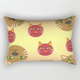 GRADIENT CAT Rectangular Pillow