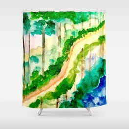 Lakeside Pathway Shower Curtain