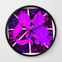 iggy azalea Wall Clocks featuring Ariana Grande Ft. Iggy Azalea by Glopesfirestar