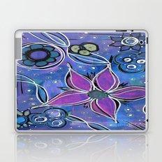 Purple Flowers Background Laptop & iPad Skin