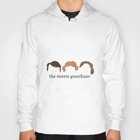 downton abbey Hoodies featuring The Sisters Grantham: Downton Abbey by Illustrated by Jenny