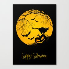 happy halloween Canvas Print