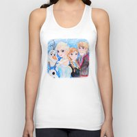 frozen Tank Tops featuring Frozen by enerjax